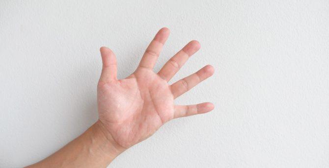 Lebenslinie – eine große Linie auf der Handfläche