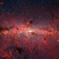 Loch der Milchstraße zeigt in Richtung Erde